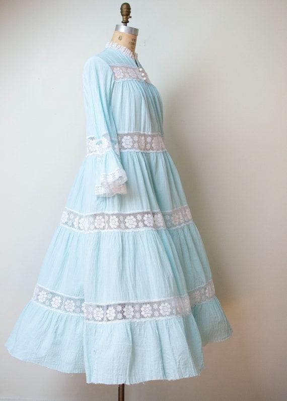 1970s Pale Blue Dress | David Brown