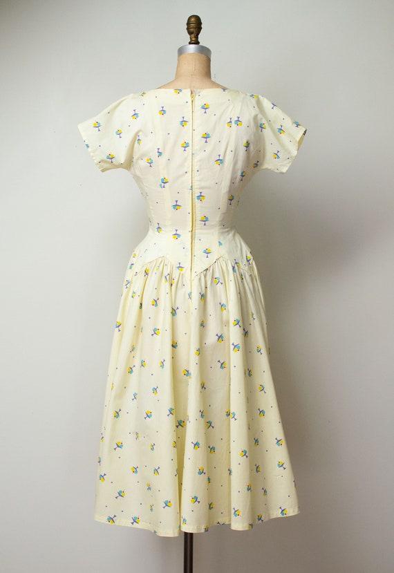 1950s Ice Cream Print Dress | 50s Novelty Print S… - image 5