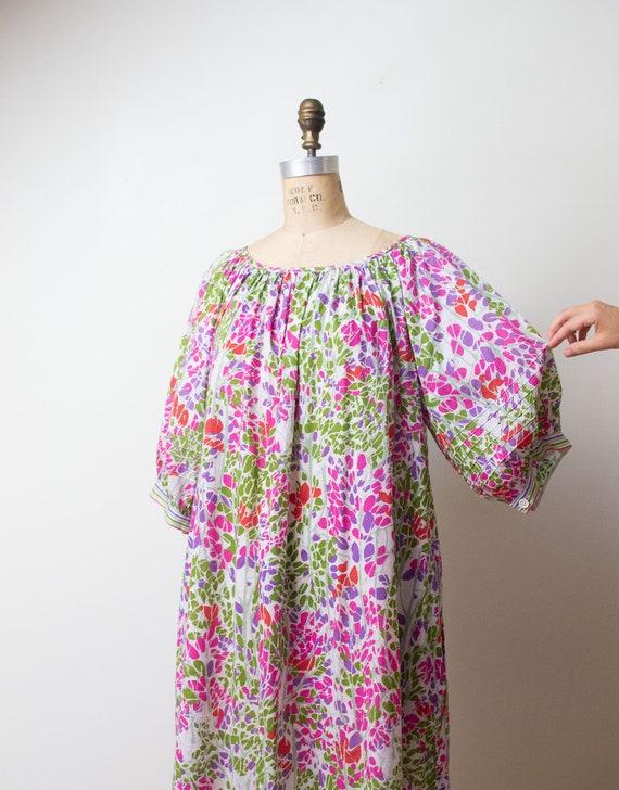 1980s Cotton Balloon Sleeve Dress