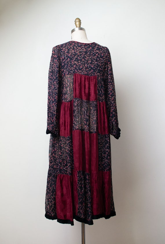 1970s Mixed Print Dress | 70s Patchwork Floral Pr… - image 4