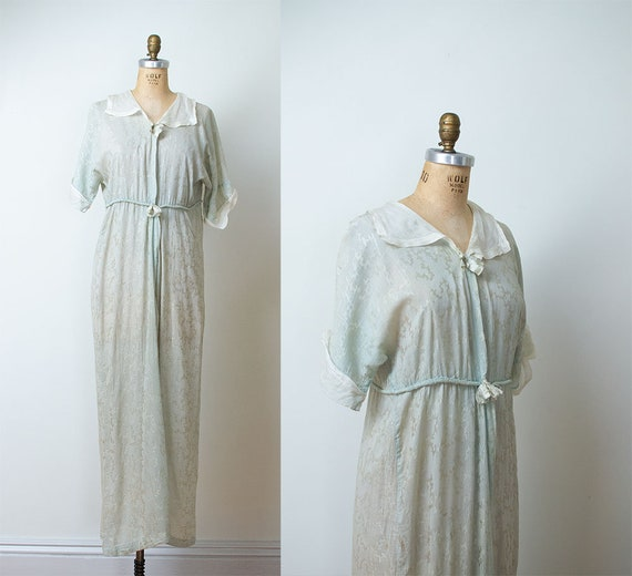 1920s Robe / Edwardian 20s Dressing Gown