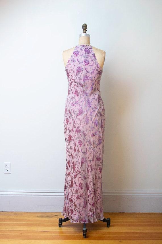 1990s Bias Cut Gown / 90s Laundry Paisley Chiffon… - image 5