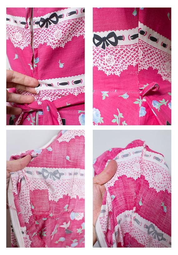 1940s Novelty Print Dress - image 10