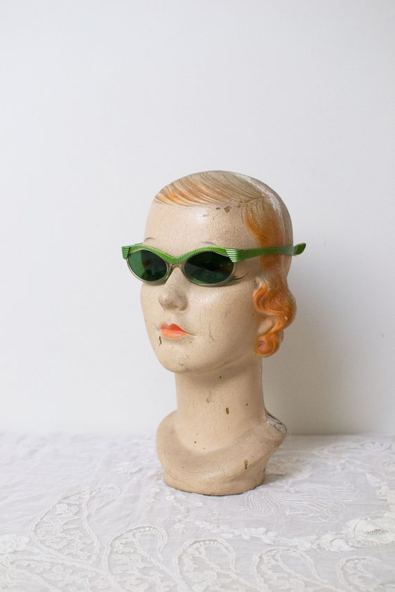 1950s Lizard Green Sunglasses