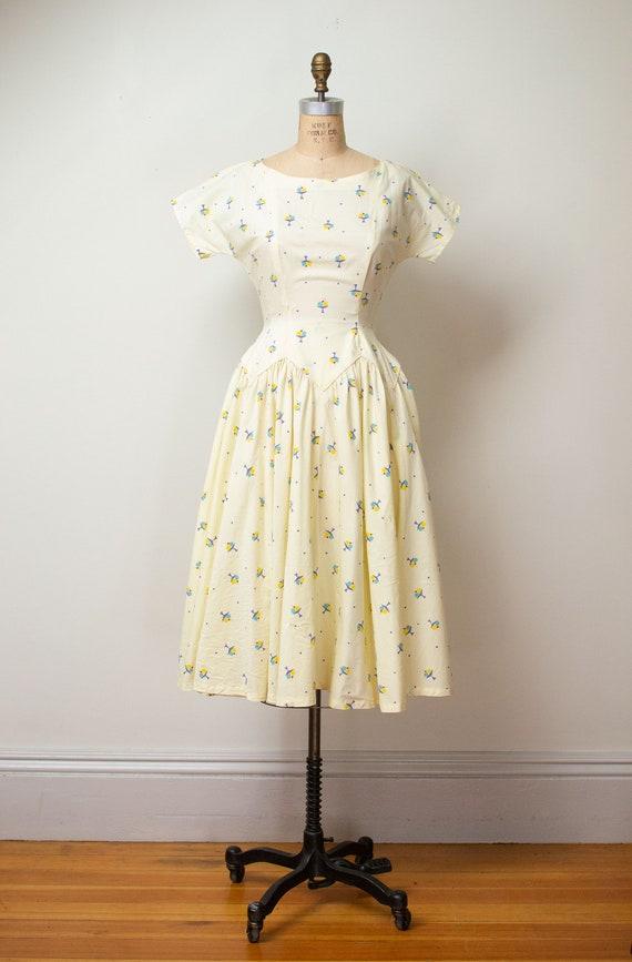 1950s Ice Cream Print Dress | 50s Novelty Print S… - image 4
