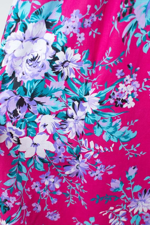 1980s Floral Print Dress | Lanz - image 10