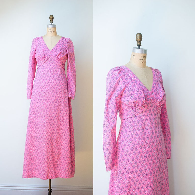 ebb83f9c2 1960s Indian Cotton Dress   60s India Imports Rhode Island