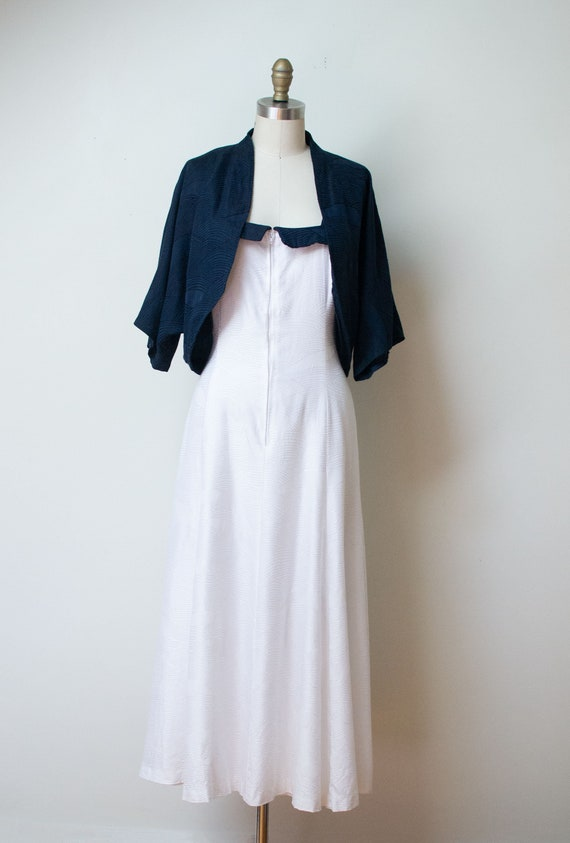 Vintage 1980s Wave Dress | Hanae Mori