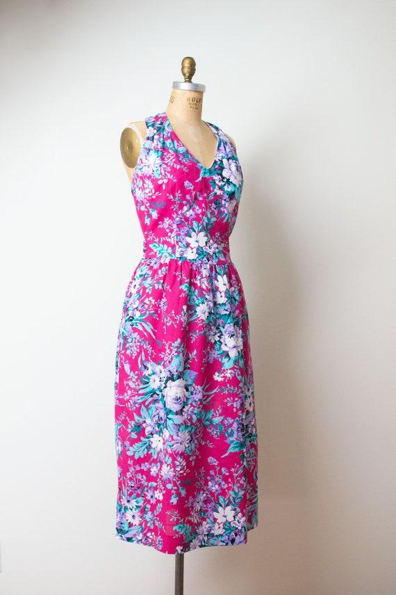 1980s Floral Print Dress | Lanz - image 4