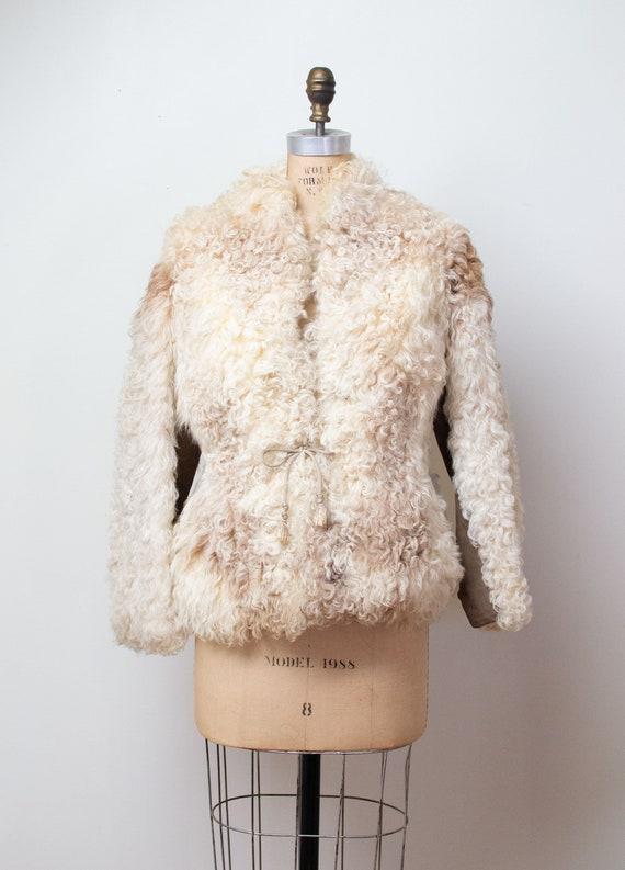 1970s Mongolian Lamb Fur Coat / 70s Curly Lamb Cro