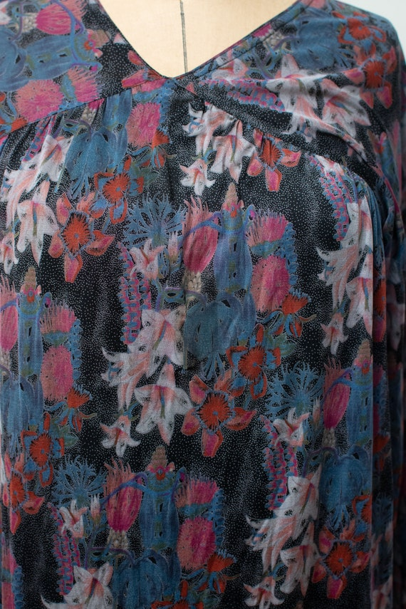 1970s Floral Print Silk Jersey Set |Vintage 70s M… - image 7