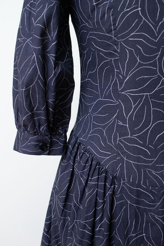 1990s Laura Ashley Dress / 90s Leaf Print Puff Sl… - image 7