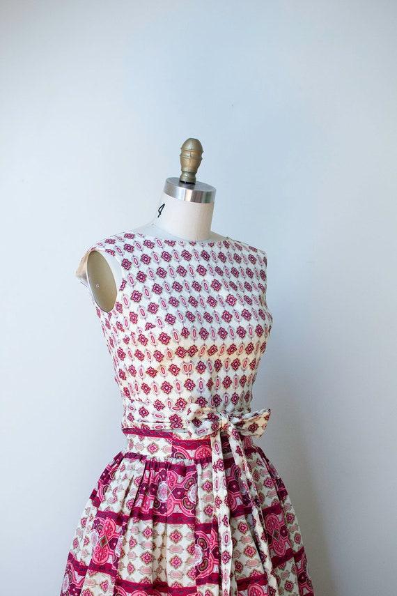 1950s Sundress / 50s Two Piece Wrap Dress - image 7
