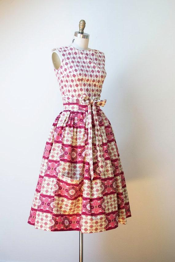 1950s Sundress / 50s Two Piece Wrap Dress - image 6