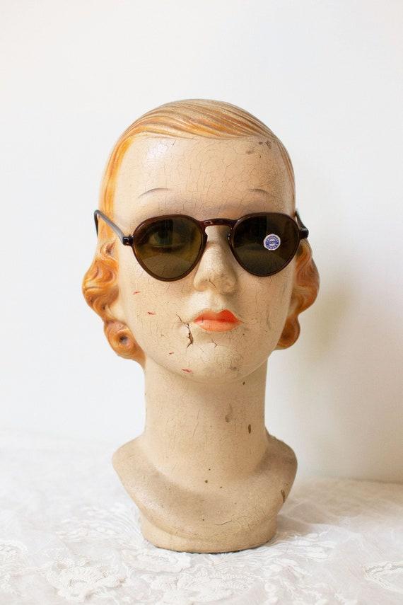 1940s Solarex Sunglasses  / 40s Brown Crookes Lens