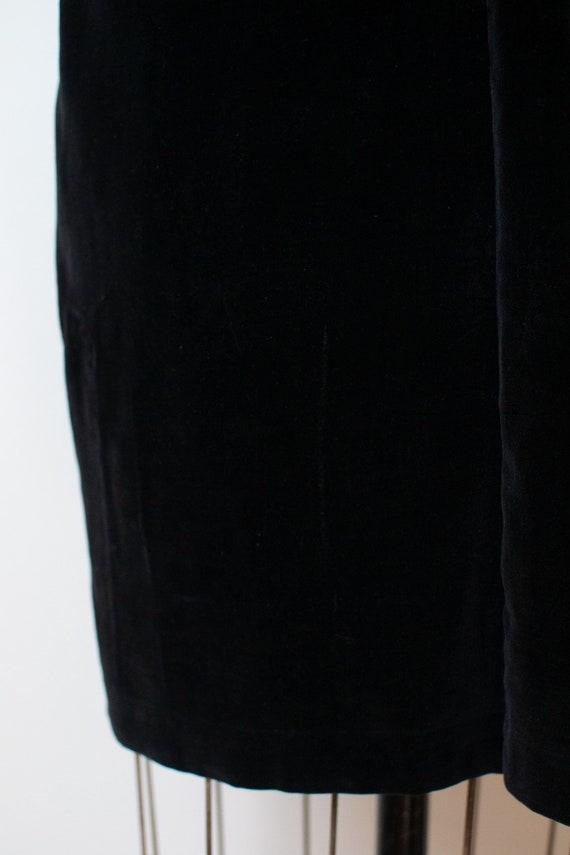 1940s Velvet Pinafore | 40s Fur Trim Dress - image 9