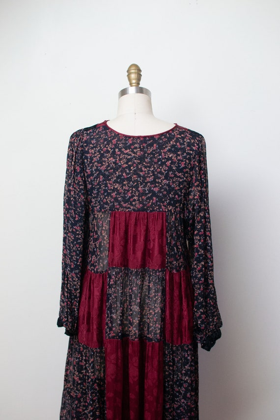 1970s Mixed Print Dress | 70s Patchwork Floral Pr… - image 7