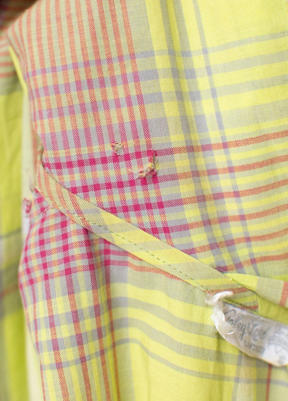 1940s Chartruse Plaid dress - image 9