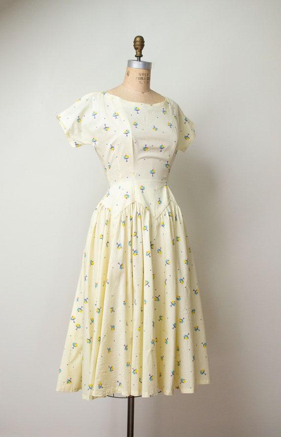 1950s Ice Cream Print Dress | 50s Novelty Print S… - image 1