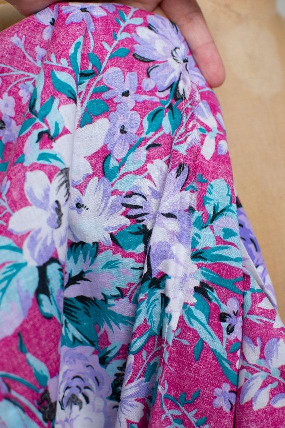 1980s Floral Print Dress | Lanz - image 9