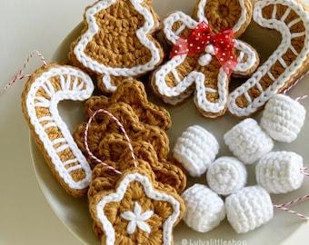 Crochet Pattern: Gingerbread Cookies - by Luluslittleshop
