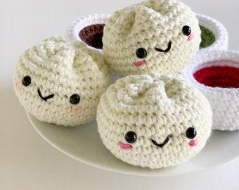 Crochet Patterns: Steamed Bun and Dipping Sauce - by Luluslittleshop