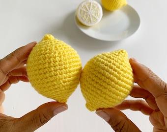 Crochet Pattern: Lemon (whole and half) - by Luluslittleshop