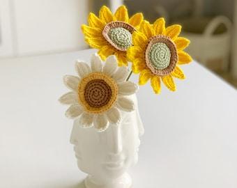 Crochet Pattern: NO SEW Sunflower - by Luluslittleshop