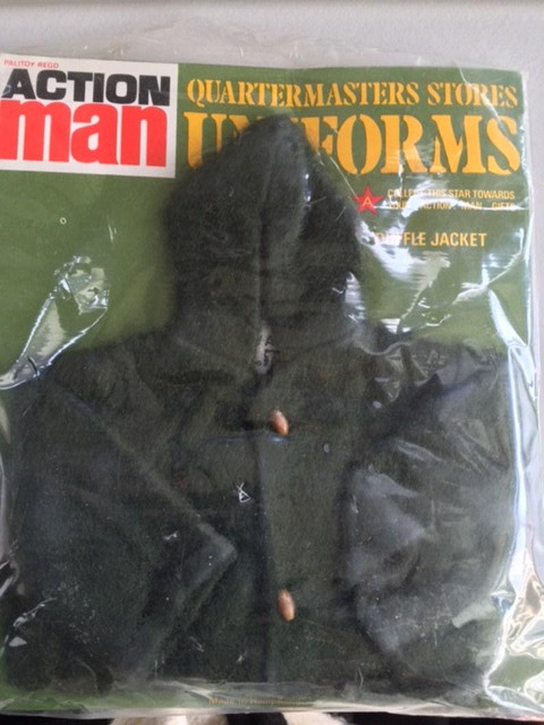 Rare Vintage PALITOY British ACTIONMAN G.I.Joe 1960s MIB OF Green Camo Duffle Jacket Hasbro Army Action Figure Soldier Military Geyperman