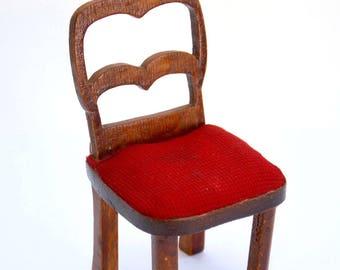 Vintage Antique French hand-made 1920s BLEUETTE GAUTIER LANGUEREAU Art Deco-era Chair L.S.D.S Furniture S.F.B.J Doll La Semaine de Suzette