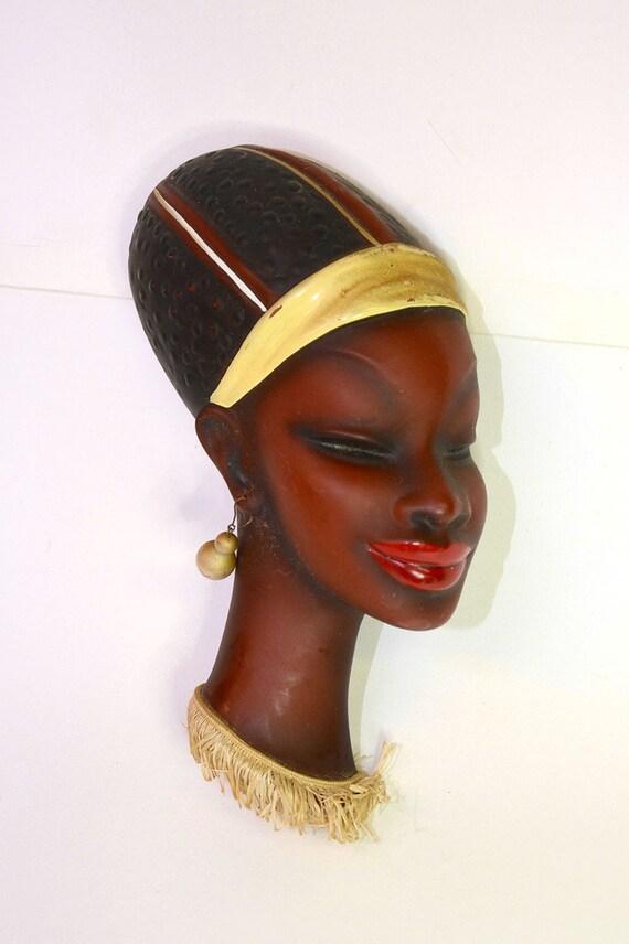 Art Deco Wiener Werkst\u00e4tte-era Austrian-style Pottery West German 1940s African Africana Tribal Hunteresse Black Women Couple Water Bearer