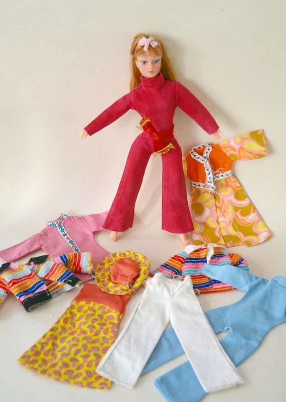"""Vintage Little Miss Dollikins 7/"""" Uneeda White Closed Toe High Heels~ Never used!"""
