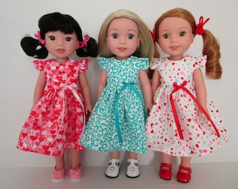 """18/"""" Doll Valentines Dress fits 18 inch American Girl Doll Clothes vd87a"""