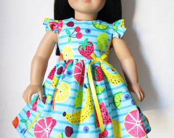 our generation 18 Doll Yellow Bee Bumblebee Dress Retro fits American girl my life