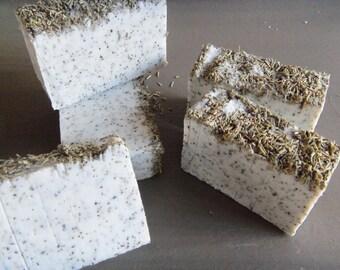 6 Rosemary Peppermint soap bars 4oz PLUS each. Vegan.