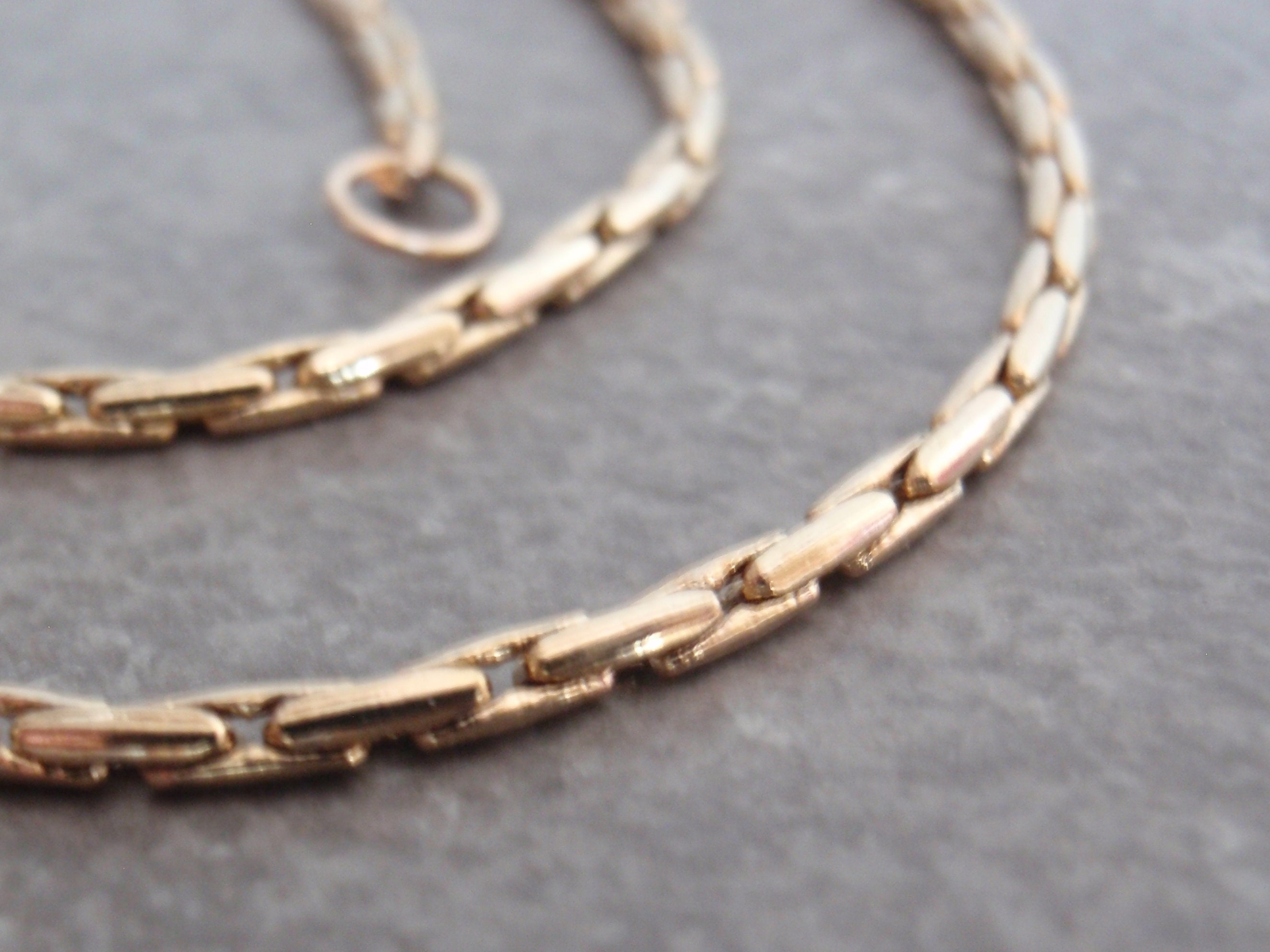 14 Inch 14k Gold Filled Long and Short Oval Chain Necklace