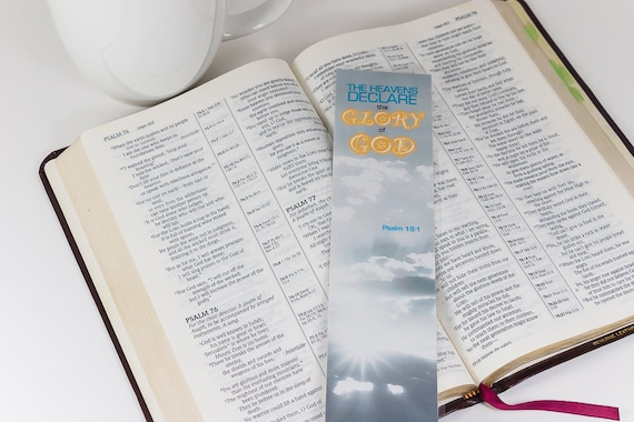 Paperclip Bookmark Psalm 19 1 Bookmark Planner Bookmark Bookmark Gift Charm Bookmark The Heavens Declare The Glory Of God Bookmark
