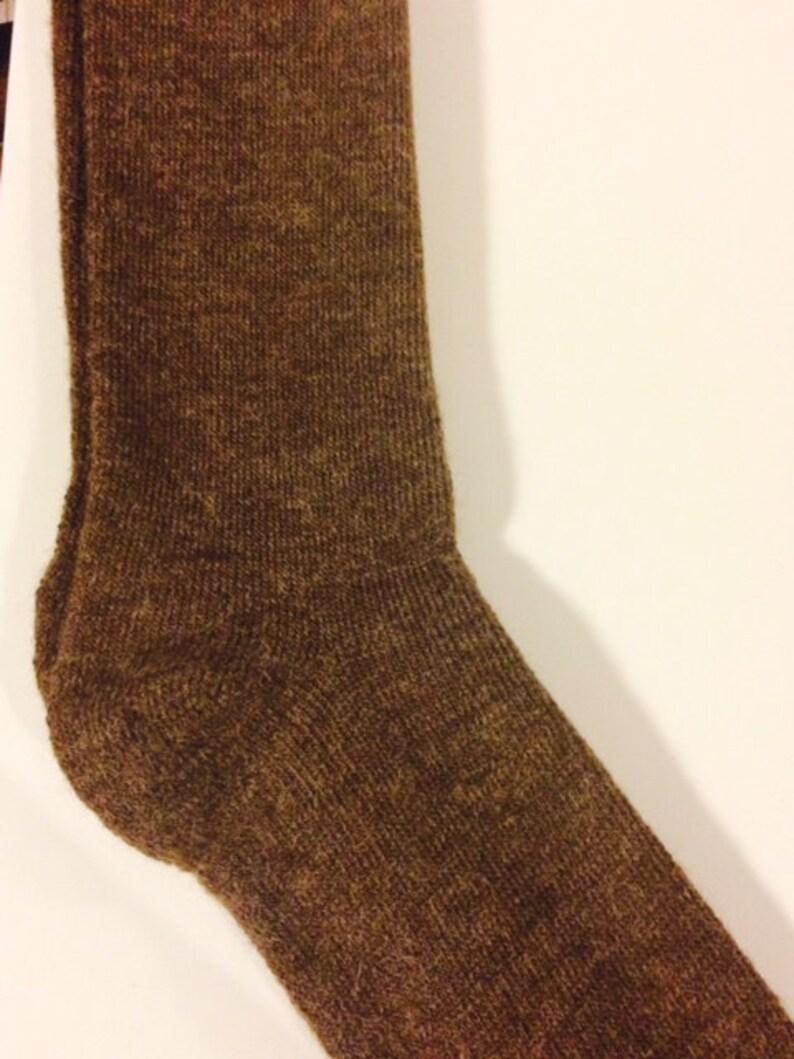 Alpaca Socks Men/'s Coco Brown