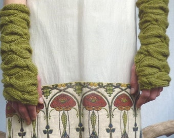 INNER WILD Sweetheart Warmers Knitting Pattern - use any DK yarn, easy cable pattern, abundant texture