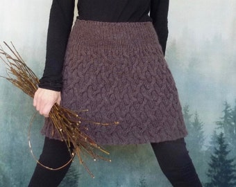 INNER WILD Ancestors Skirt Knitting Pattern - knit any size, use any yarn, easy to knit, easy to wear