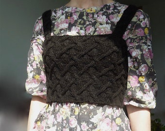 INNER WILD Ancestors Bodice Knitting Pattern - knit any size, use any yarn, easy to knit, easy to wear