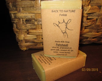 Handmade Patchouli Goats Milk Soap