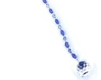 Hängend Kristall Sonnenfänger 30 mm Medium Feng Shui Suncatcher Perlen Regenbogen Ornament hellblau Perlen Big
