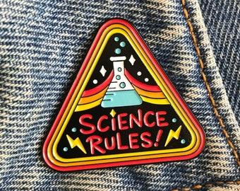 Science Rules Enamel Pin
