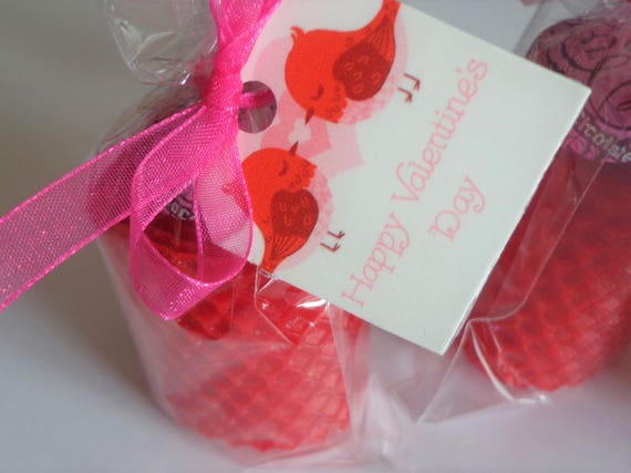 6 red//white//pink Valentine/'s Day votives Natural Handmade 100/% Beeswax Candles