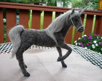 Needle Felted Unicorn, Horse, OOAK, 10% coupon