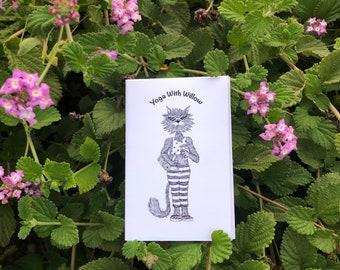 Mini Yoga Zine, Cat Art, Picture Book, Cute Art, Kids Book, Relax, Animal Art, Illustration