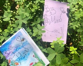 Bee Mine, Valentines Zine, Picturebook, Fun, whimsical, Cute Gift, Love, Date night, Romance