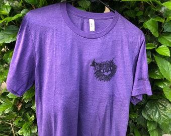 Fancy Cat T-shirt, Catlady, Screen printing, aAnimal Shirt, Kawaii, Cute Cat