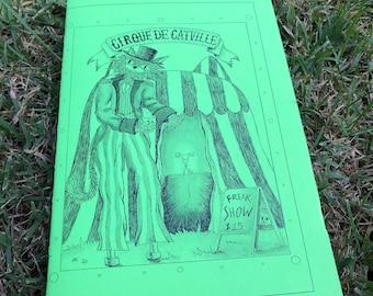 Cat Zine, CIRCUS, Childrens, Illustration, Picture Book, Kids Art, Fun Gift, Freak Show, Cirque De Catville, Childrens Book, Cat Art